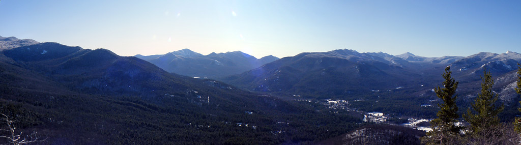 Panoramic from Baxter Mountain, Adirondacks, New York