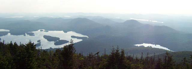 from Blue Mountain looking west