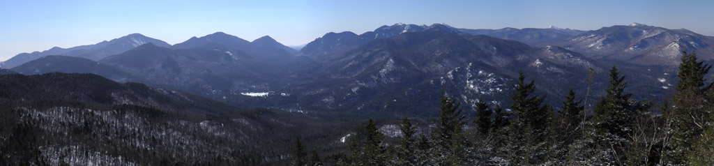 Panoramic from Hopkins Mountain, Adirondacks, New York